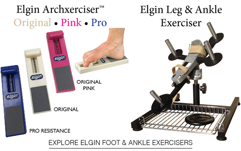 Explore Elgin's Family of Foot & Ankle Exercisers.